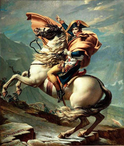 Napoleon Crossing the Alps<BR>picture by Jacques-Louis David