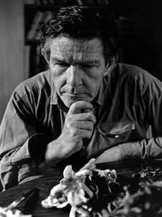 The modernist John Cage, composer of music such as 2:33 of silence