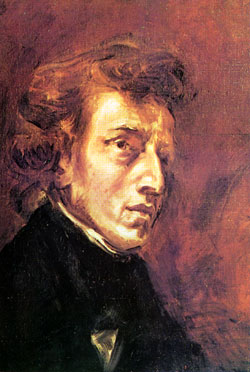 F.Chopin in a picture by E.Delacroix (1838)